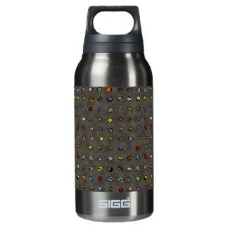 Imaginary Agates - Warm Dark Sand Insulated Water Bottle