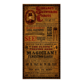 "Imaginary Circus Poster from Tirahvaalta 12"" x 24"""