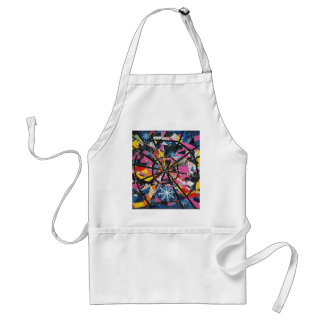 Imaginary collage adult apron