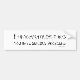 Imaginary Friend Bumpersticker Car Bumper Sticker