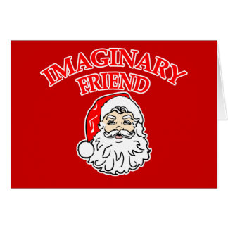 Imaginary Friend Santa Claus Card