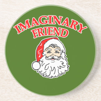 Imaginary Friend Santa Claus Drink Coaster