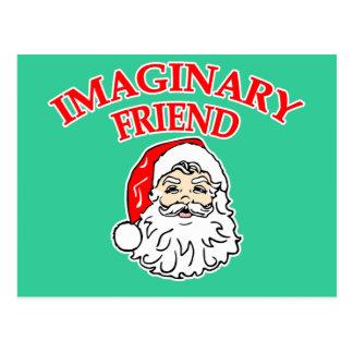 Imaginary Friend Santa Claus Postcard