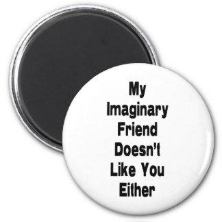 imaginary friend_vertical 2 inch round magnet