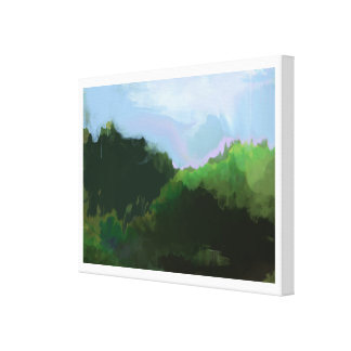 imaginary green mountains canvas print