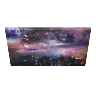 Imaginary Hong Kong Skyline Canvas Print