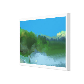 imaginary land stretched canvas prints