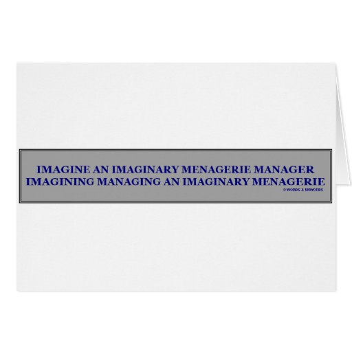 Imaginary Menagerie Manager Cards