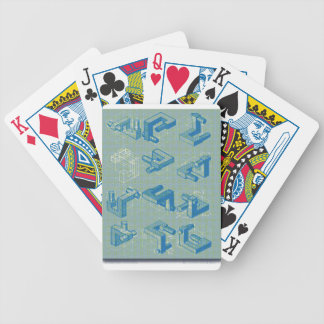 Imaginary Planning Poster Bicycle Playing Cards