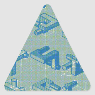 Imaginary Planning Poster Triangle Sticker