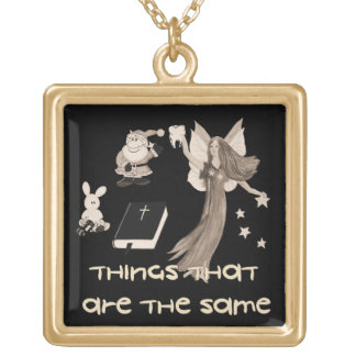 Imaginary Playthings Square Pendant Necklace