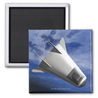 Imaginary Spacecraft 2 Inch Square Magnet