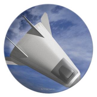 Imaginary Spacecraft Melamine Plate