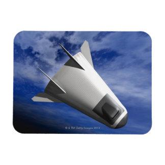 Imaginary Spacecraft Rectangular Photo Magnet