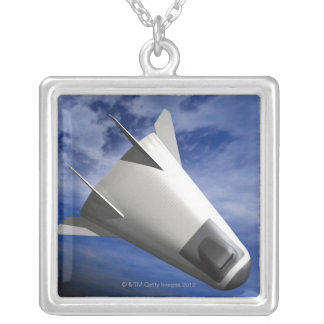 Imaginary Spacecraft Silver Plated Necklace