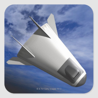 Imaginary Spacecraft Square Sticker