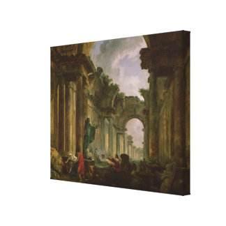 Imaginary View of the Grand Gallery of the Canvas Print
