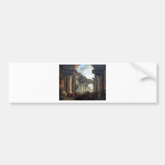Imaginary View of the Grand Gallery of the Louvre Bumper Sticker