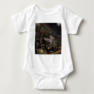 Imaginary View of the Grande Galerie in the Louvre Baby Bodysuit
