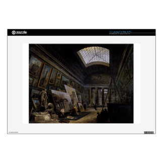 Imaginary View of the Grande Galerie in the Louvre Decals For Laptops