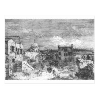 Imaginary View of Venice by Canaletto Postcard