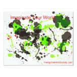 ImaginateYourWorld 4.25x5.5 Paper Invitation Card