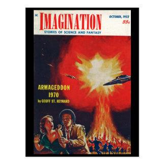 Imagination _ 10-1952_Pulp Art Postcard