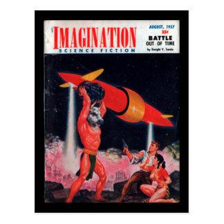 Imagination - 1957-08_Pulp Art Postcard