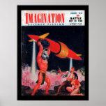 Imagination - 1957-08_Pulp Art Poster