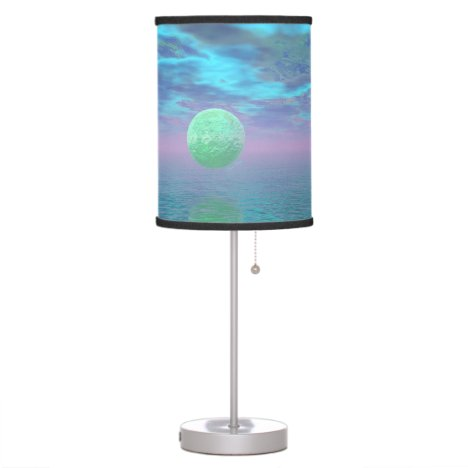 Imagination, Abstract Teal, Rose, Cyan Beauty Desk Lamp