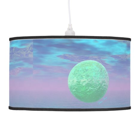 Imagination, Abstract Teal, Rose, Cyan Beauty Hanging Lamp