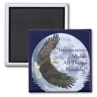 Imagination Bald Eagle & Moon Motivation Magnet