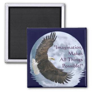 Imagination Bald Eagle & Moon Motivation Magnet