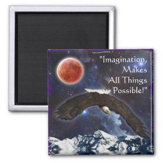 Imagination Bald Eagle & Space Fantasy Art Magnet