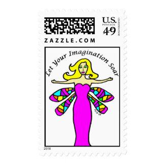 Imagination - Daphne The DRagonfly Fairy Stamp