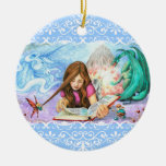 Imagination Double-Sided Ceramic Round Christmas Ornament