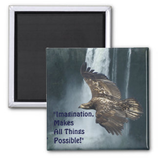 Imagination Eagle & Moon Motivational Art Magnet