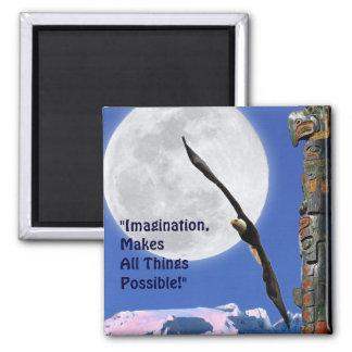 Imagination Eagle, Moon & Totem Motivation Magnet