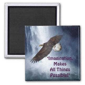 Imagination Eagle & Waterfall Motivational Magnet