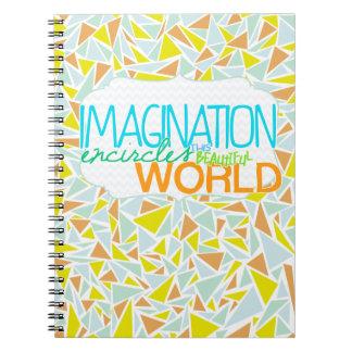 Imagination encircles this beautiful world notebook