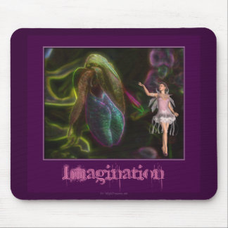 Imagination Fairy Flower Inspirational Mouse Pad