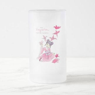 Imagination Frosted Glass Beer Mug