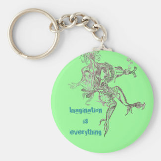 Imagination is everything keychain