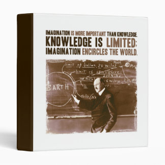 Imagination is more important than knowledge binder