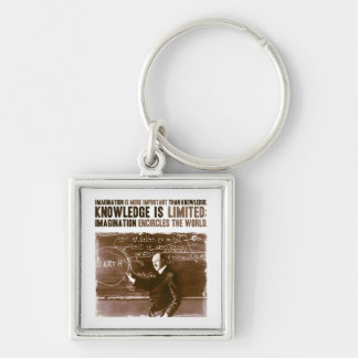 Imagination is more important than knowledge keychain