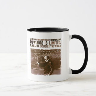 Imagination is more important than knowledge mug