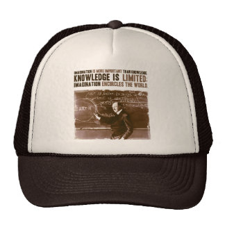 Imagination is more important than knowledge trucker hat
