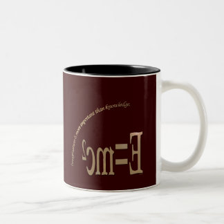 Imagination Is More Important Than Knowledge Two-Tone Coffee Mug