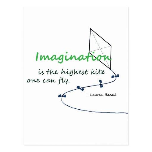 """Imagination is the Highest Kite"" Postcard"