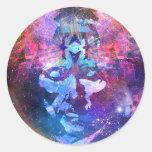 Imagination Man Round Sticker